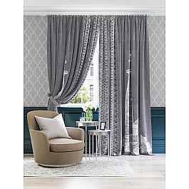 цена на Шторы для комнаты TomDom Комплект штор Нилия (серо-фиолетовый)