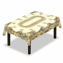 Скатерти Wisan Скатерть №230339-130, кремовый, золотой скатерть quelle эго 1024295 120х150