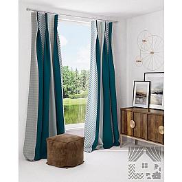 Шторы для комнаты TomDom Комплект штор Адетта, темно-бирюзовый зимний конверт womar 48 exclusive темно бирюзовый светло бирюзовый