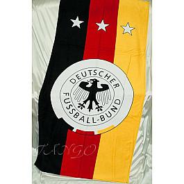 Пляжное полотенце Deutscher Fussball-Bund, 75*150 см, черный, красный, желтый