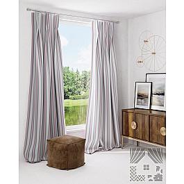 Шторы для комнаты TomDom Комплект штор Ральфела, розово-серый жен комплект арт 16 0262 розово серый р 50