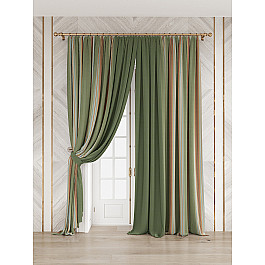 Шторы для комнаты TomDom Комплект штор Делисион (зеленый)