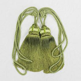 Фото - Кисти для штор Ajur Кисти Ajur HK K7-06, зеленый, 60 см кисти для штор ajur 60 см 2 шт молочный