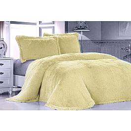 Покрывало Tango Покрывало меховое Лама желтая, 220*240 см еж стайл линейка color animals желтая утка 18 5 см