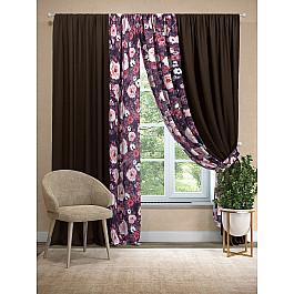 Шторы для комнаты TomDom Комплект штор Пилори (венге) шторы реалтекс классические шторы alexandria цвет венге молочный венге