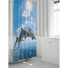 Штора для ванной TomDom Штора для ванной Дэлофит штора loskutclub