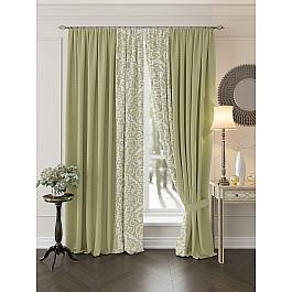 Шторы для комнаты TomDom Комплект штор Риджин (зеленый)