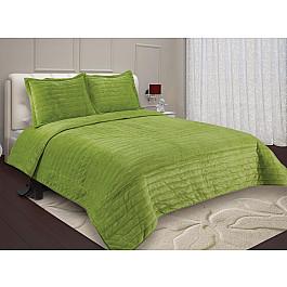 купить Покрывало Buenos Noches Покрывало Buenas Noches Velour с наволочками, зеленый, 230*250 см по цене 4400 рублей
