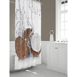 Штора для ванной TomDom Штора для ванной Коукон-A штора для ванной tomdom штора для ванной партол a