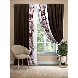 Шторы для комнаты TomDom Комплект штор Рэйви (венге) шторы реалтекс классические шторы alexandria цвет венге молочный венге