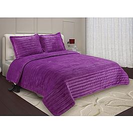 купить Покрывало Buenos Noches Покрывало Buenas Noches Velour с наволочками, фиолетовый, 230*250 см по цене 4400 рублей