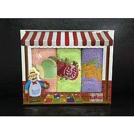 Наборы полотенец для кухни Turkiz Набор кухонных полотенец Turkiz TURKISH COFFEE в коробке, 30*50 см - 3 шт, абрикосовый, салатовый, фиолетовый набор кухонных ножей 3 шт 7941 clasica серия clasica