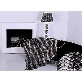 Покрывало Tango  меховое Zarina black, черный, 220*240 см