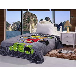 Плед Tango Плед детский Angry Birds №01, серый, 150*200 см