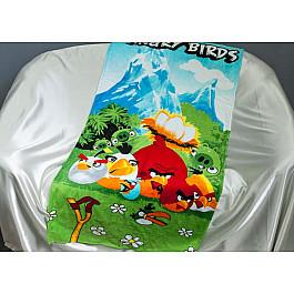 Пляжное полотенце Angry Birds, 75*150 см, мультиколор