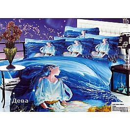купить Постельное белье Tango КПБ Сатин Гороскоп дизайн Дева (Евро) по цене 5222 рублей