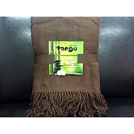 Плед Tango Плед Bamboo Throw №03, коричневый, 150*200 см striped chiffon round beach throw