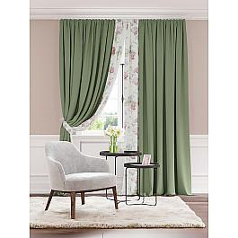 Шторы для комнаты TomDom Комплект штор Гривиоз (зеленый)
