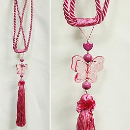 Кисти для штор Ajur Кисть RQ 11558LWF-03, розовый philips rq 1280