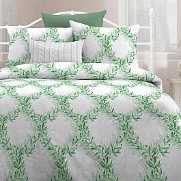 цена на Постельное белье Любимый дом КПБ евро поплин 'Любимый дом' (70х70) рис. 15843-1 Изумрудный лес