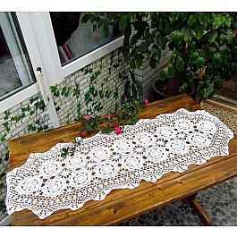 Скатерти Tango Кружевная скатерть Rene, белая, 40*150 см кружевная скатерть