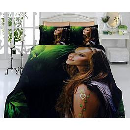 где купить Постельное белье Virginia Secret КПБ Бамбук VS 3D Digital дизайн 57 (Евро) по лучшей цене