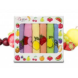 Полотенца Beyza Набор кухонных вафельных полотенец Beyza 05, 50*70 см - 6 шт набор лицевых полотенец butterfly цвет оттенки розового 30 х 50 см 6 шт