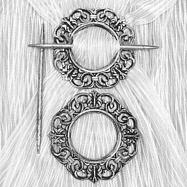 Подхваты для штор Ajur Подхват-заколка MI C3-12 kryg, серебро goowiiz серебро mi note3