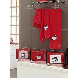Комплект полотенец Hello Kitty (BAMBOO) в коробке (50*90; 70*140), красный
