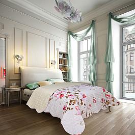 Покрывало Amore Mio Покрывало Amore Mio Прованс Nice, белый, 220*240 см недорго, оригинальная цена