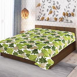 Фото - Плед TexRepublic Плед фланель Absolute печатный Листья клена, зеленый, 150*200 см ёлка цвет зеленый 150 см