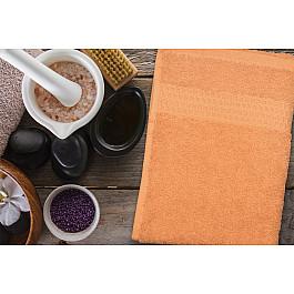 Полотенца Amore Mio Полотенце махровое однотонное с бордюром Clasic, оранжевый, 70*140 см полотенца valentini полотенце sea цвет оранжевый набор