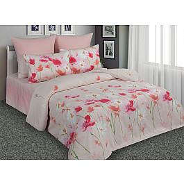 Постельное белье Amore Mio КПБ перкаль печатный 10673/1/10617/2 (Евро), розовый все цены