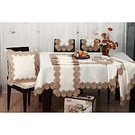 Салфетка Tango Салфетка ABT дизайн 05, белый, коричневый, 60*60 см цена