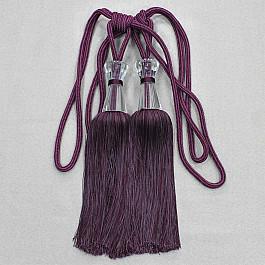 Фото - Кисти для штор Ajur Кисти Ajur HK MB917AY-1013, фиолетовый, 60 см кисти для штор ajur 60 см 2 шт молочный