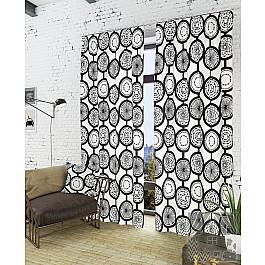 Шторы для комнаты TomDom Комплект штор Талан-К, черный, белый, 260 см светлана талан розколоте небо