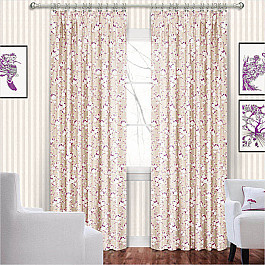 шторы Шторы для комнаты ШтораНаДом Шторы Доминика, фиолет цветы
