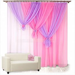 шторы Шторы для комнаты Нивасан Шторы Весна, розовый, правая
