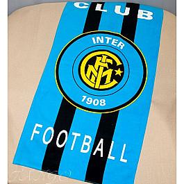 Пляжное полотенце Inter Football Club, 75*150 см, голубой, желтый, черный