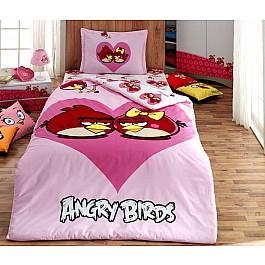 где купить Постельное белье Virginia Secret КПБ Детский Ранфорс VS Angry birds дизайн 04 (1.5 спальный) по лучшей цене