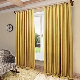 Шторы для комнаты Sanpa Портьеры Агнес, золотой, 200*280 см ткань арта 1 п м 280 см цвет золотой