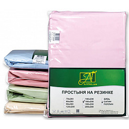 Простыни Alvitek Простынь Сатин на резинке, розовый, 180*200*25 см цена