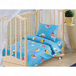 Постельное белье Арт-постель КПБ бязь ясли Облачко синее (Новорожденный) кпб облачко день рожденья ясли