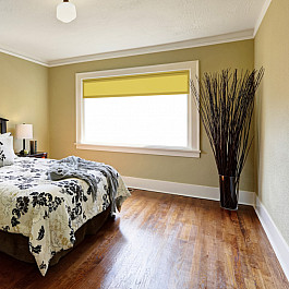цена на Шторы рулонные ролло Decofest Рулонная штора ролло однотонный блэкаут Плайн, солнечно-желтый, 50 см