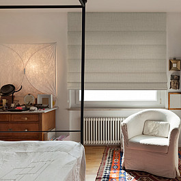 Римские шторы Decofest Римская штора однотонная, бежевый, ширина 140 см цены