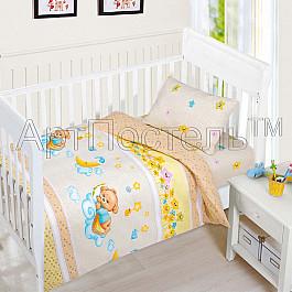 Постельное белье Арт-постель КПБ бязь ясли Баиньки (Новорожденный) кпб облачко день рожденья ясли