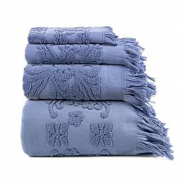 Полотенца Arya Полотенце с бахромой Arya Isabel Soft, голубой, 30*50 см полотенца william roberts полотенце банное aberdeen цвет queen shadow серо голубой 70х140 см
