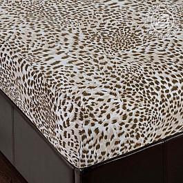 Простыни Арт-постель Простынь трикотажная на резинке Леопард, 180*200 простыни арт постель простынь трикотажная на резинке незабудка 180 200
