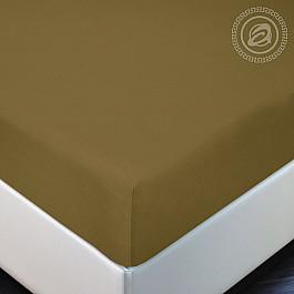 Простыни Арт-постель Простынь трикотажная на резинке Горчица, 180*200 цена