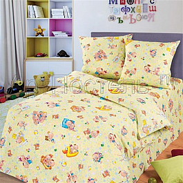 Постельное белье Арт-постель КПБ бязь для детей Лапушки с наволочками 70*70 см (1.5 спальный) арт постель комплект постельного белья лапушки